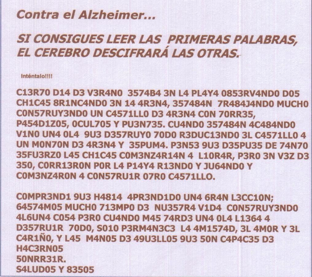 ejercicio and mental: